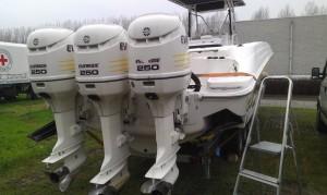 Wellcraft Scarab 3x Evinrude Ficht Ram 250pk